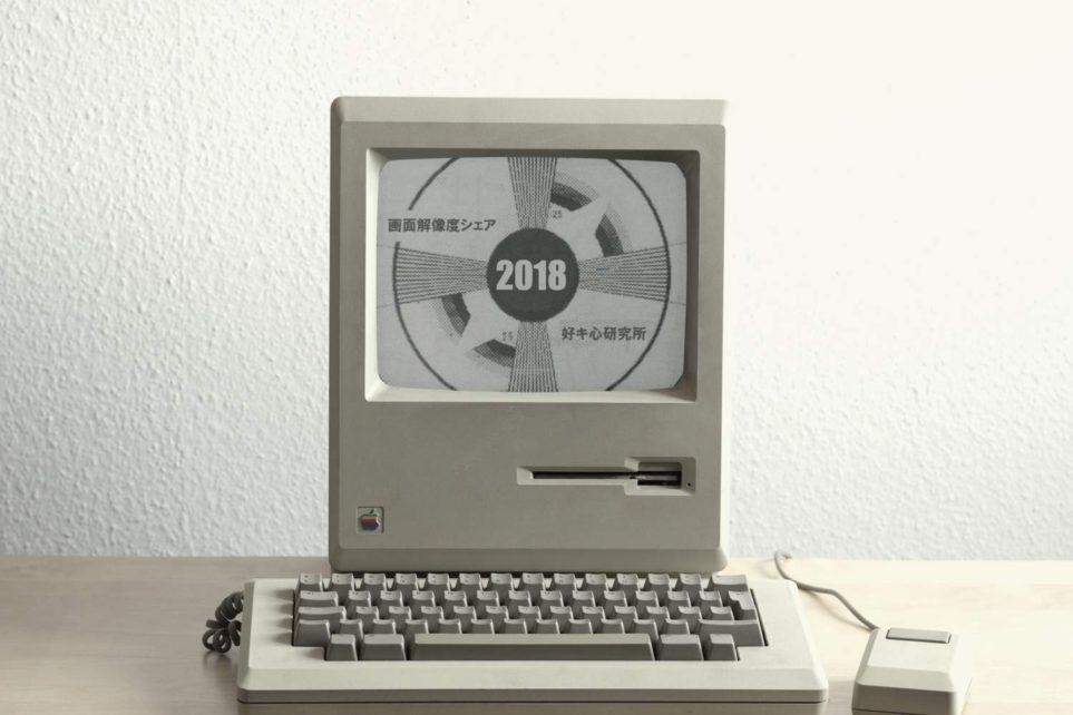 画面解像度シェア 2018